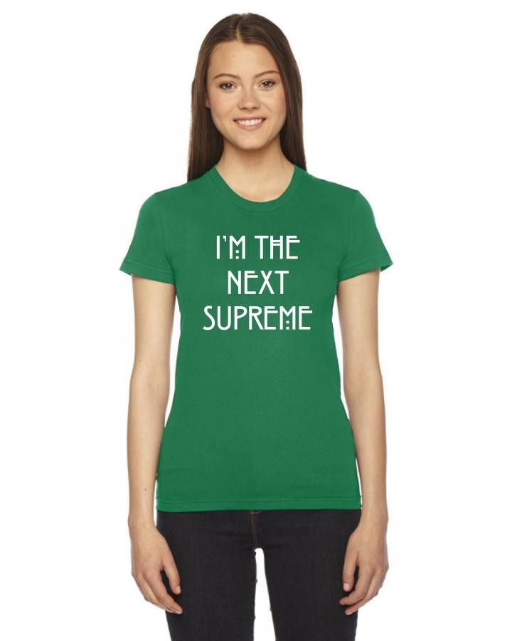 i am the next supreme white Ladies Fitted T-Shirt