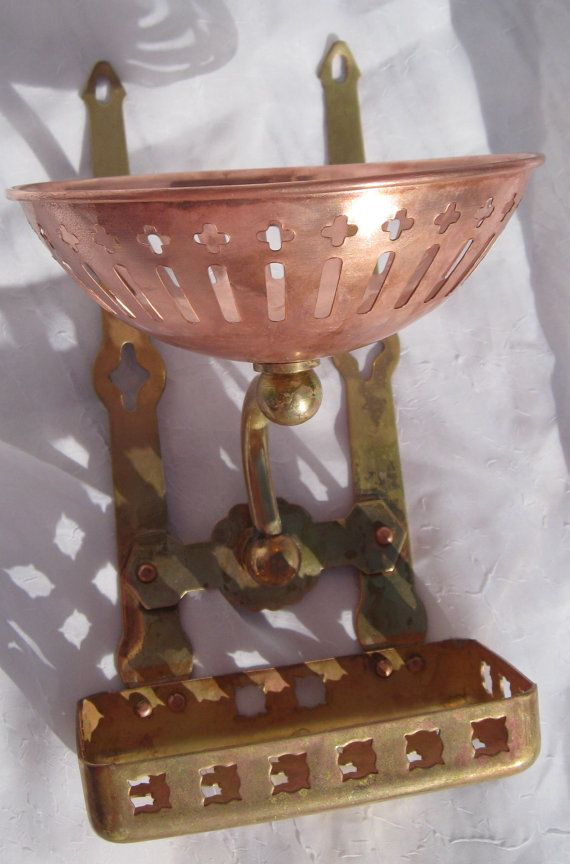 Antique Nautical Copper Sponge Holder Brass by ScuttlebuttHasIt, $75.00