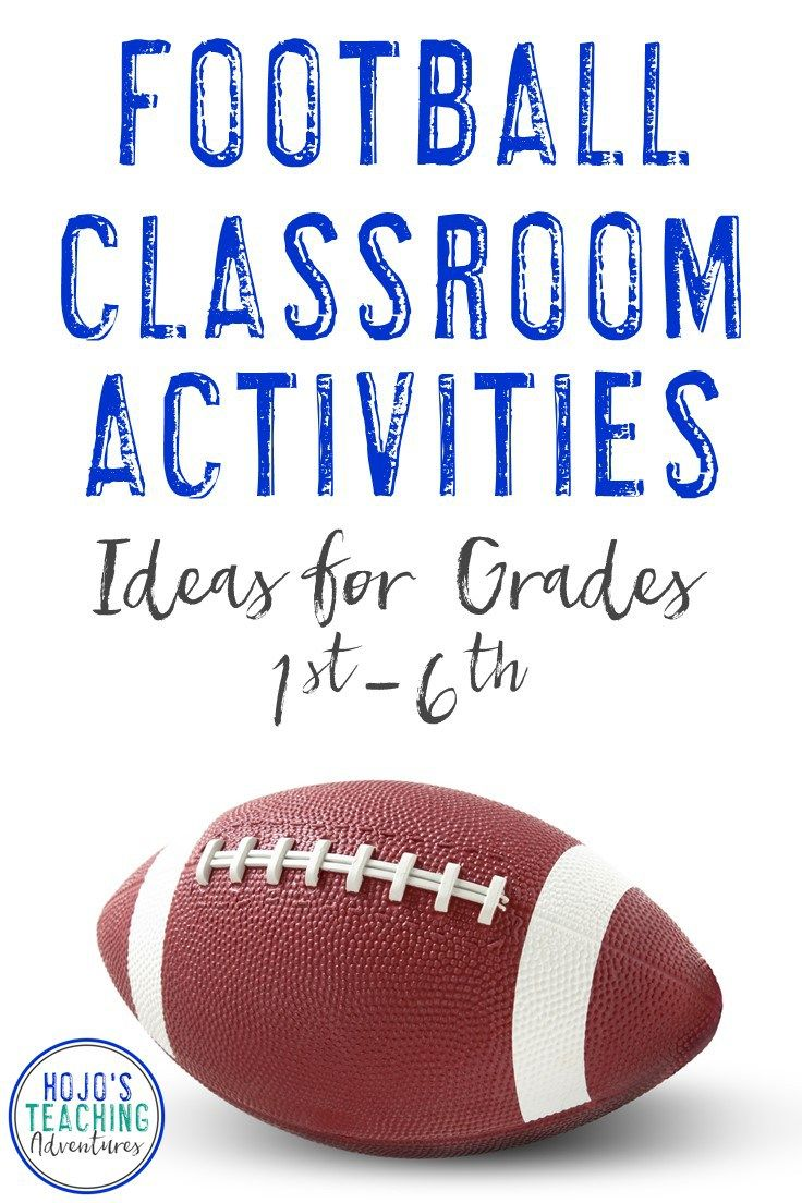 Find great football classroom activities here! Celebrate football season in the fall for your local high school team, or use these ideas to celebrate college or NFL football in the classroom. They also work well for the Super Bowl! Reading, math, social s