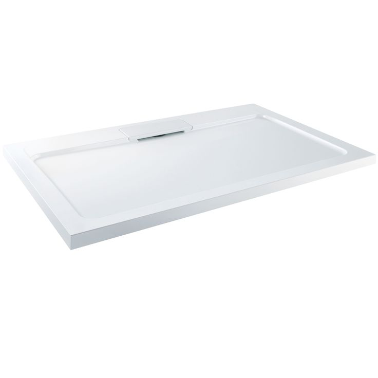 Low Profile Rectangular Shower Tray with Hidden Waste (L)1200mm (W)800mm (D)40mm | Departments | DIY at B&Q