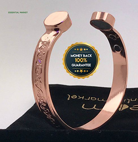 EFFECTIVE PURE Copper Magnetic Bracelet For Men & Women, Effective Pain Relief for Arthritis, RSI, Carpal Tunnel  ★ONLINE COLLECTION IS COMMITTED TO PROVIDING EFFECTIVE AND ALL NATURAL NON-INVASIVE PAIN RELIEF FOR ARTHRITIS, Joint Pain, RSI, Carpal Tunnel, Fatigue and Migraines. Copper Magnetic Bracelets have been worn for many years by thousands of people across the globe, online collection brings you the purest and highest quality bracelets on the market today. BE WARE OF FAKE IMITAT...