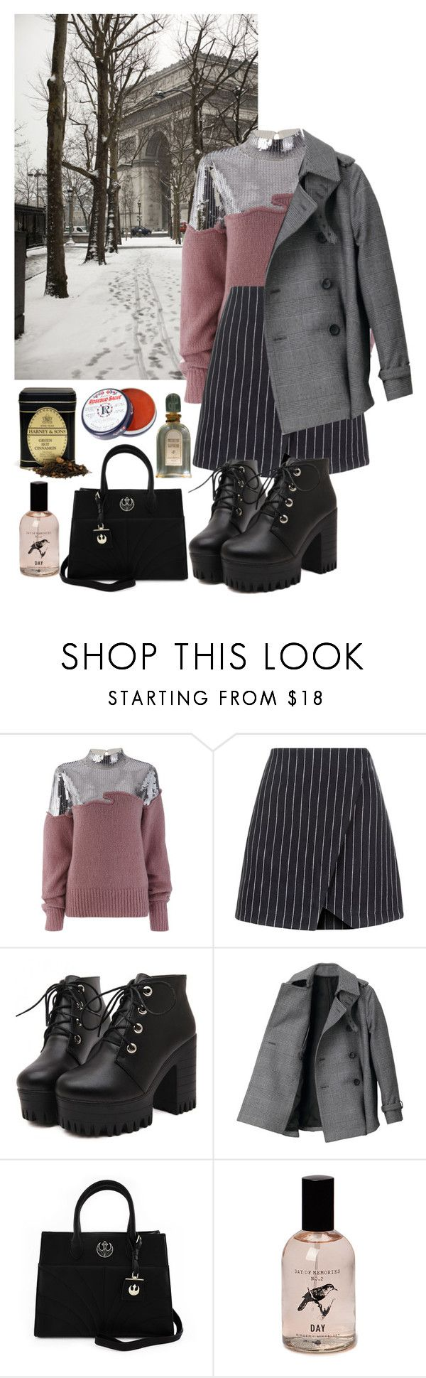 Untitled #440 by danielagreg on Polyvore featuring Aviù, THE RERACS, New Look, Loungefly, Jean Patou and Rosebud Perfume Co.