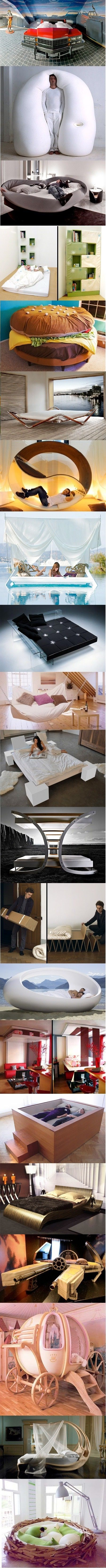 cool bedsDecor, Beds Lvl, Favorite Places, Creative, Cool Beds, Awesome Beds, Dreams House, Bedrooms, Design