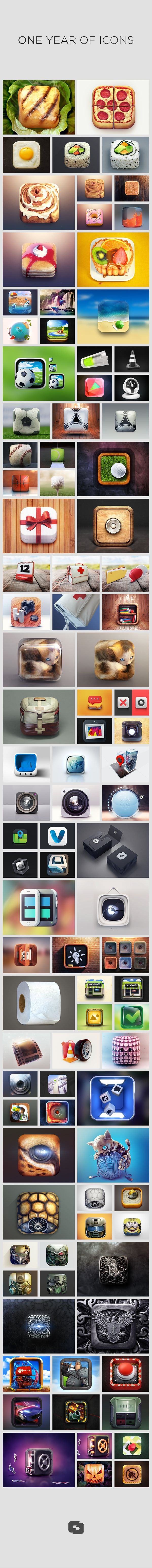 one year of icons. creativedash design studio.
