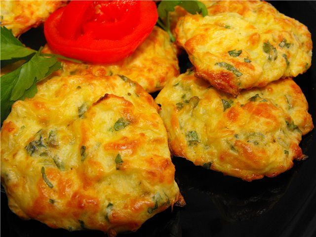 Cabbage pancakes with cheese in the oven. recipe, please visit