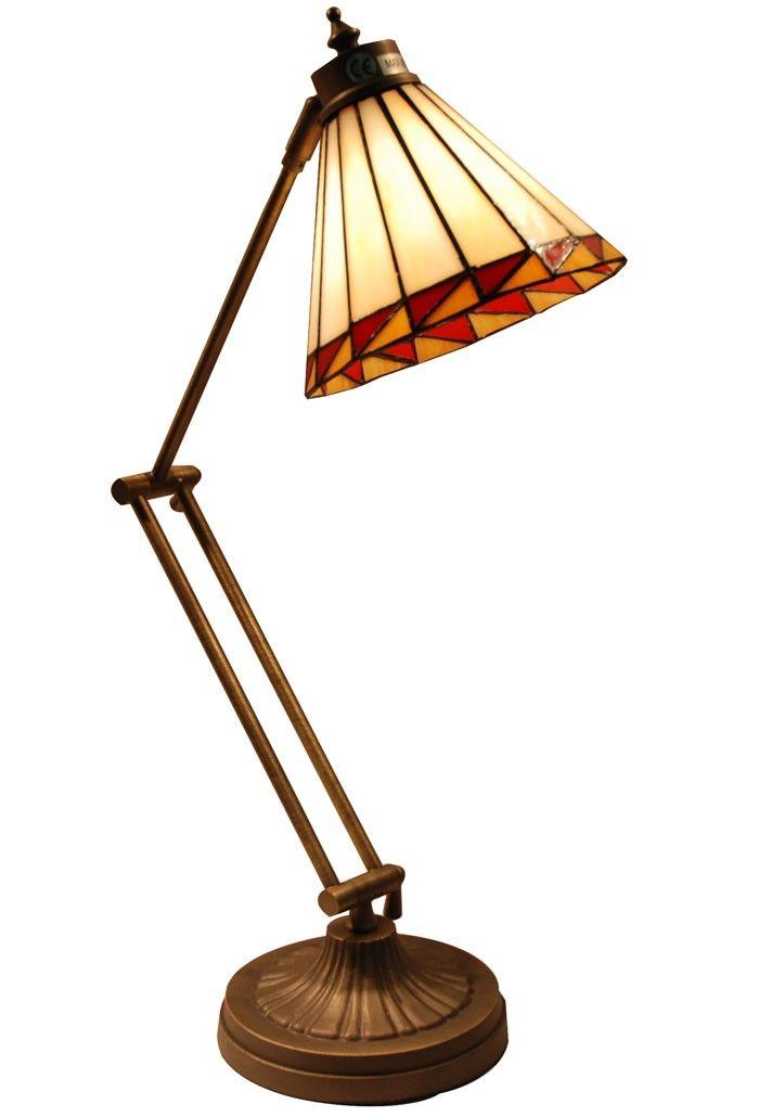 Lampara tiffany de escritorio geometrica l mparas for Lamparas y plafones de pared