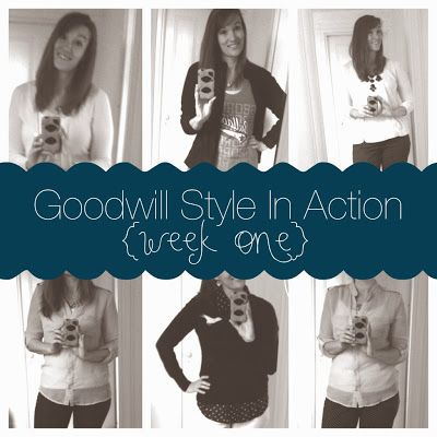 Calculating Blessings: 31 Days of Goodwill Style - Day 7 - Goodwill Style In Action - {week one}