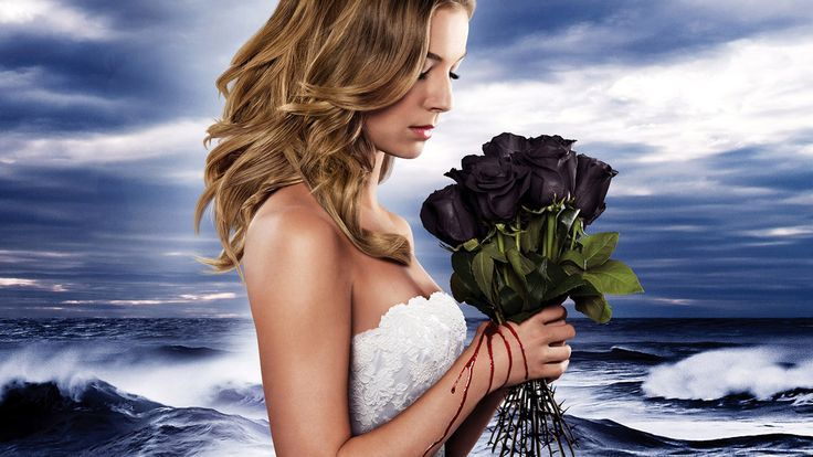 Revenge TV show, roses, actress wallpaper