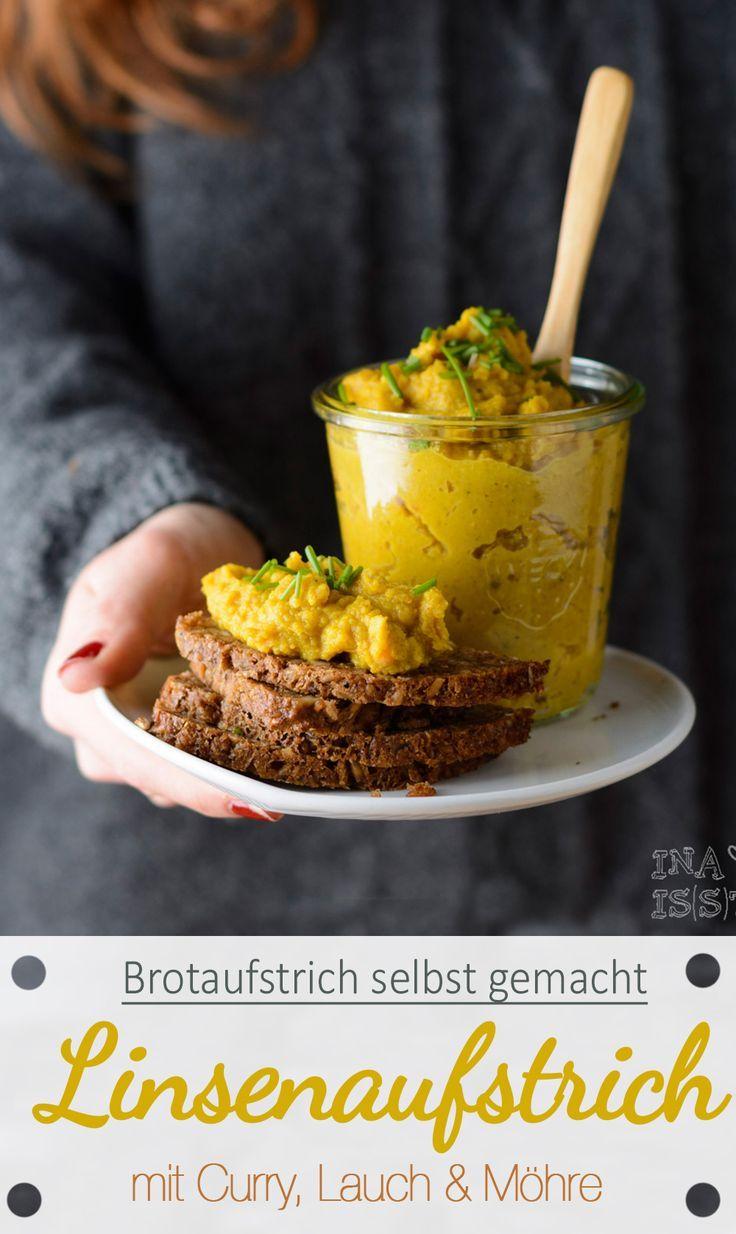 Essen im Büro#9 – Brotaufstrich selbstgemacht: Roter Linsen-Curry-Austrich (Vegan Dip)