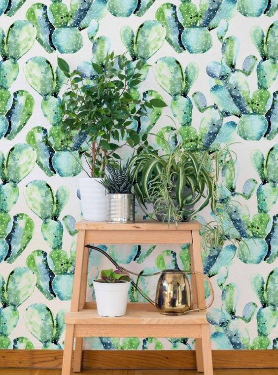 saguaro cactus mural wallpaper (m²) nature inspired wallpapersyou can make your home look this cute witu some naturalinspiration and our saguaro cactus mural wallpaper forest home homedecor homedecorideas