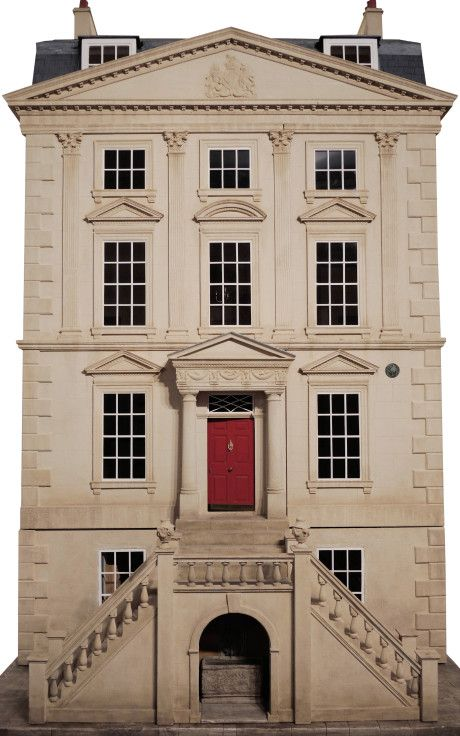 Handmade Classic English Unfurnished Dollhouse by Mulvany & Rogers Now Available on Moda Operandi (exterior. interior pinned alongside or click through to see more pics)