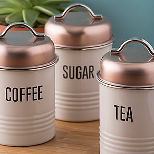 Typhoon Vintage Copper Range - Set of 3 Canisters #kaleidoscope #home