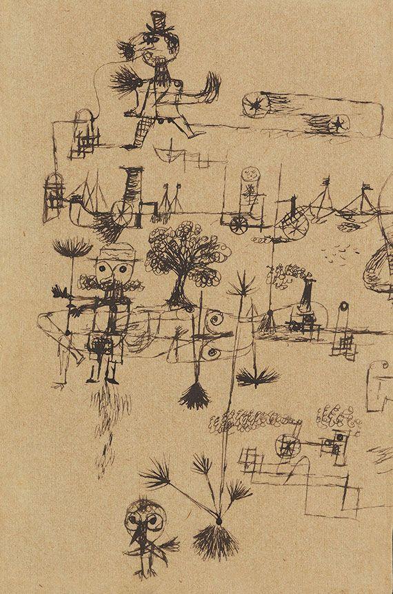 Paul Klee . Herrn Kirchhof zur Erinnerung an schöne Stunden am Rhein. Mai 1922.