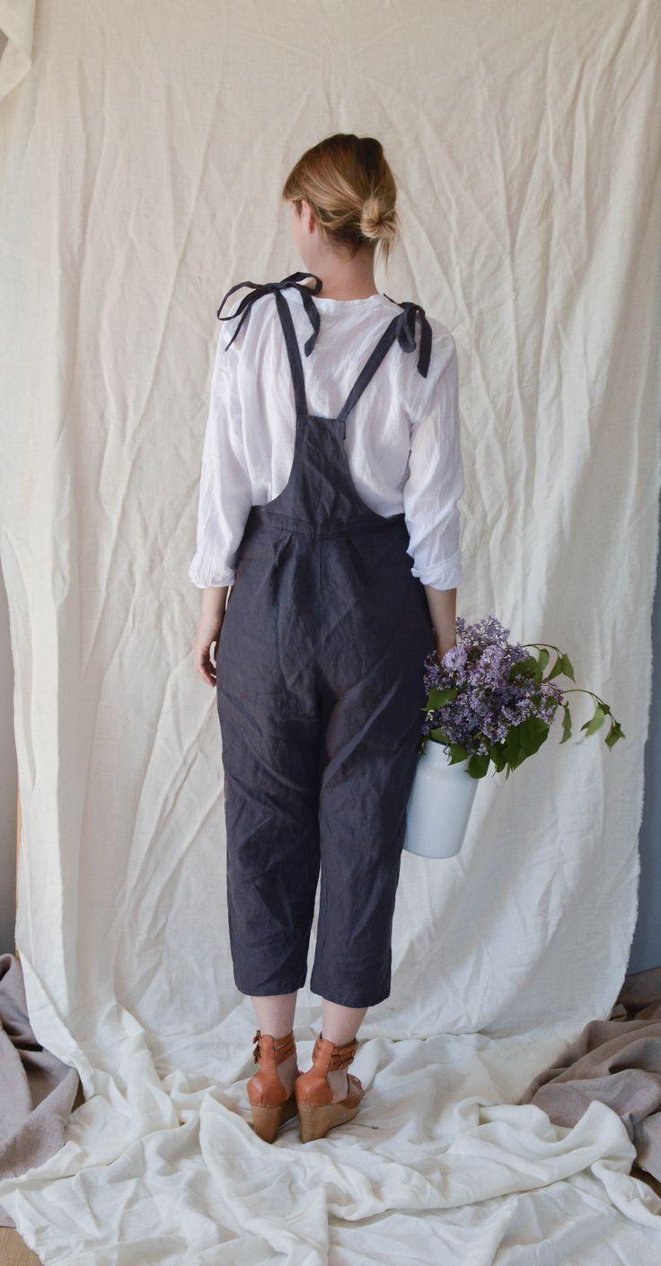 Linen Overall Jumpsuit from Ilkapilka@Etsy