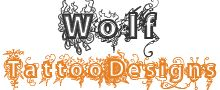 Grey Ink Feathers And Wolf Tattoo Design - Wolf Tattoo Designs