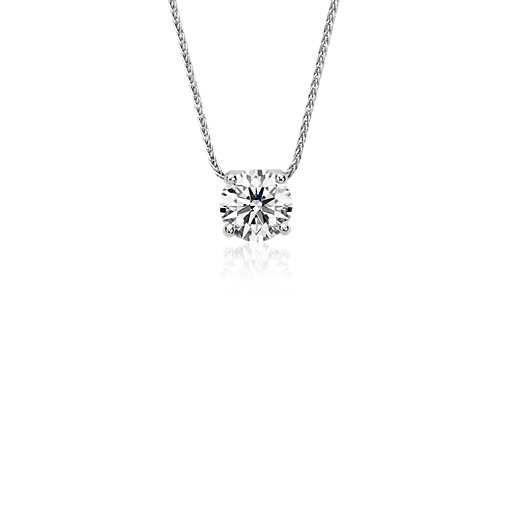 Blue Nile Signature Floating Diamond Solitaire Pendant in Platinum (0.80 ct. tw.) | Blue Nile