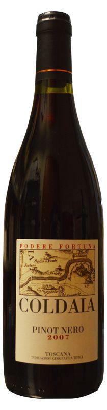 Coldaia 2007. Pinot nero IGT Podere Fortuna. http://www.toscanacheproduce.it/vini-rossi/pinot-nero/coldaia-2007.html #vino #toscana