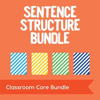 Simple & Compound, Compound & Complex, Compound-Complex Sentences, and Review: Save $2 when you purchase all of our sentence structure task card products together! This bundle includes four sets that feature simple, compound, complex, and compound-complex sentence task cards, instructions, and posters.