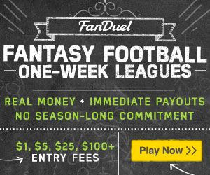 Business Stuff: One-Week Fantasy Football Leagues For Cash at FanD...