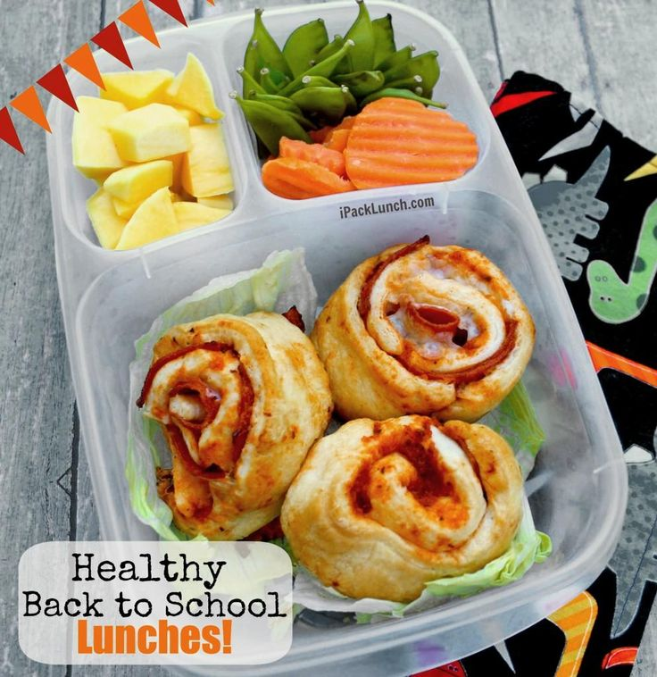healthy back to school lunches - pizza pinwheels