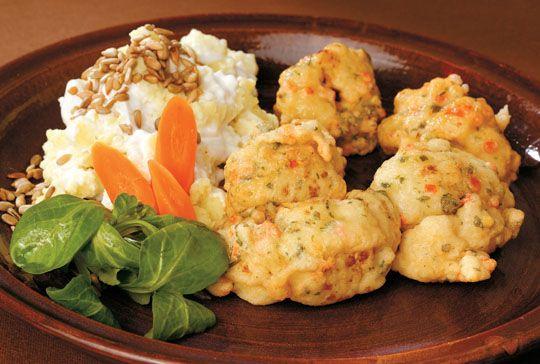 Trefa Supermarket - Recepty - Hlavní jídla -  Květák v křupavém těstíčku