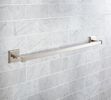 "Alcott Towel Bar, 24"", Polished Nickel finish"