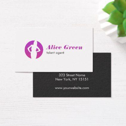 Talent Agent Logo Business Card - stylist business card business cards cyo stylists customize personalize