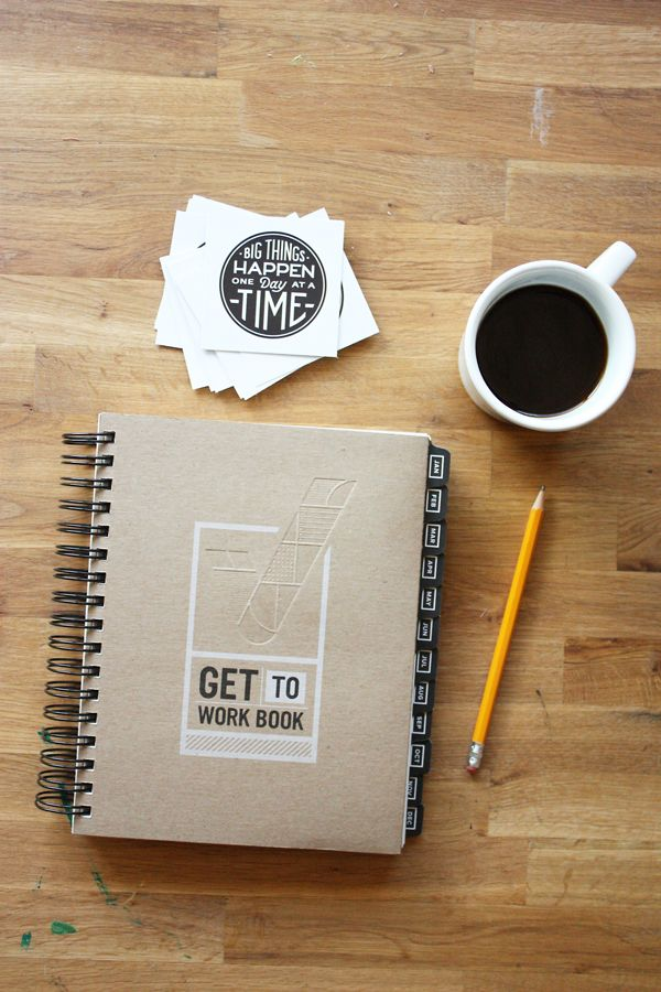get to work book | daily planner + goal setter