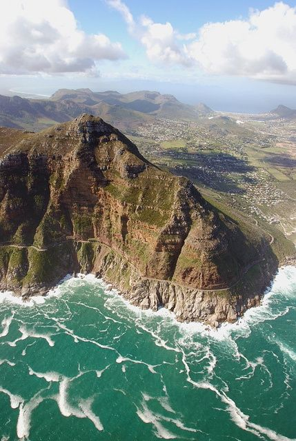 Chapman's Peak Drive from above, near Cape Town, South Africa