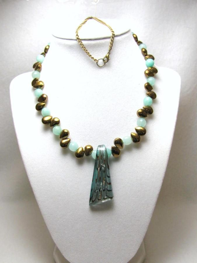 Tears & Jade - Jewelry creation by Linda Foust