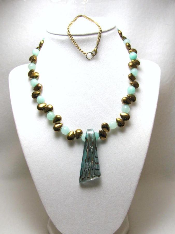 Tears & Jade - Jewelry creation by Linda Foust