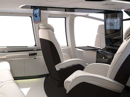 Helicopter Interiors Have Come Along Way This Is A Bespoke Cabin