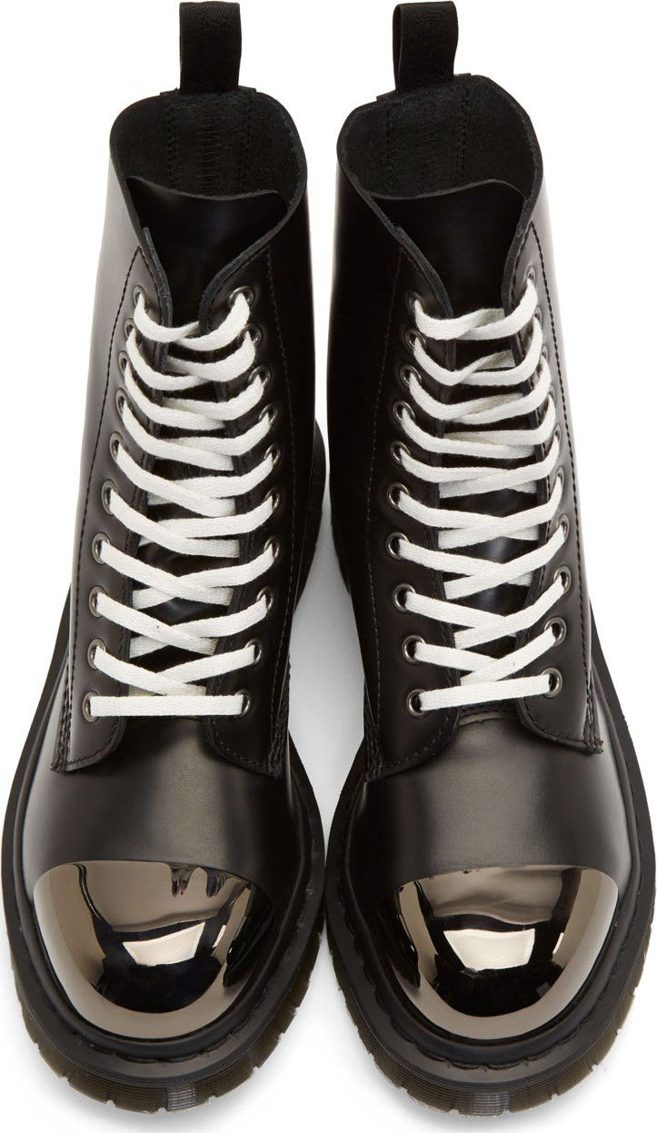Dr. Martens Black Leather Steel Toe Grasp Boots | if ill ever get less grunge but still wanna rock Dr. Martens | NOA