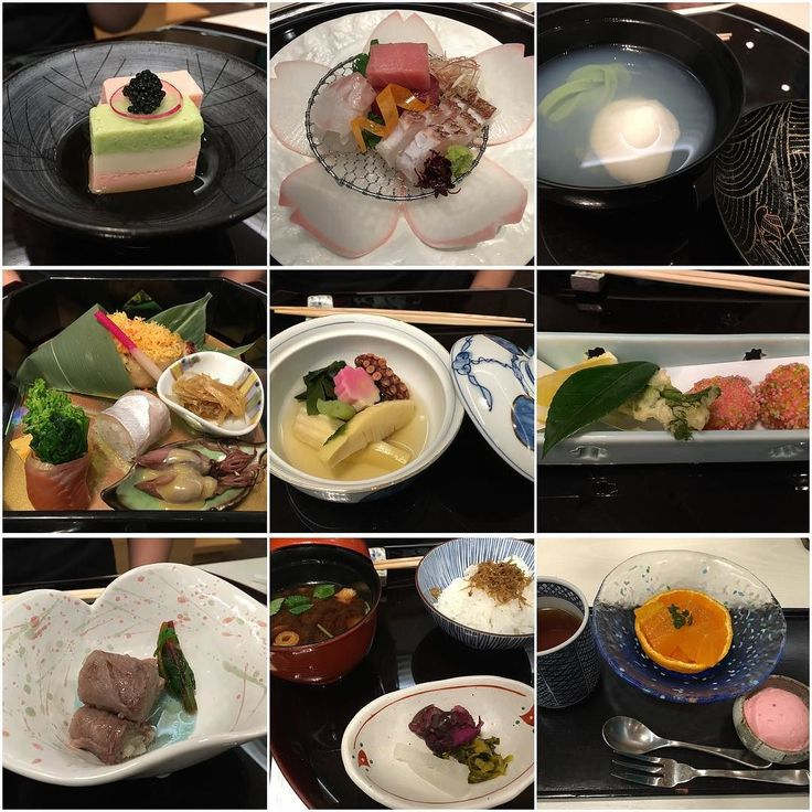 yurugi kaiseki course: sakizuke (appetizer) / sliced raw fish (sashimi) / wan mono (a dish served in a bowl) / grilled dish / simmered dish / deep-fried dish / wagyu beef roll / rice miso soup & pickled vegetables / hojicha orange & sakura ice cream  03.31.2016 #japanesecuisine #japanesefood #kaiseki #懐石料理 #appetizers #sashimi #刺身 #fish #fireflysquid #bambooshoots #deepfried #wagyubeef #misosoup #sakura #icecream #food #foodie #foodstagram #foodgasm #instafood #foodporn #foodpic…