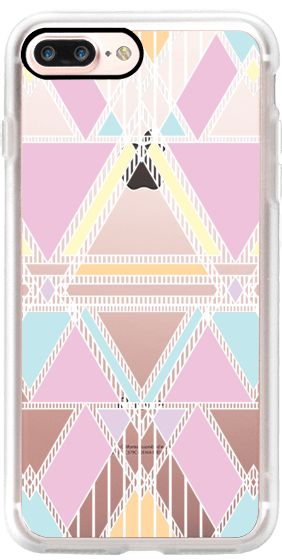 Casetify iPhone 7 Plus Case and other Boho iPhone Covers - Pastel Linear Tribal Transparent by Organic Saturation | Casetify