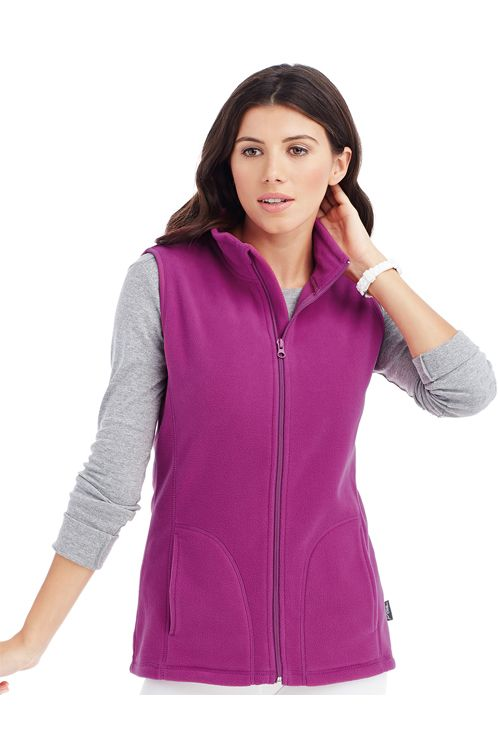 Polar Active Fleece Vest Women Active by Stedman | logofashion.ro #veste #vestepromotionale #textilepromotionale #textilepersonalizate