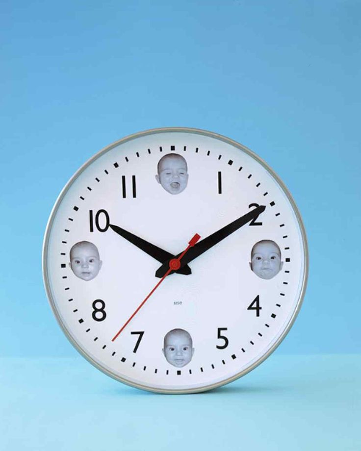 Baby Face Clock