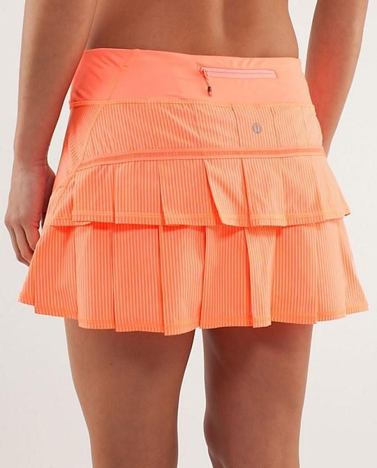 Lululemon Tennis Pace Setter Skirt  | Tennis Dresses | Tennis Skirts | Tennis Ladies Apparel @ www.FitnessGirlApparel.com