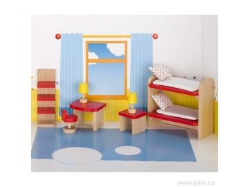 Nábytek pro panenky – dětský pokoj BASIC - DesignProDeti.Cz