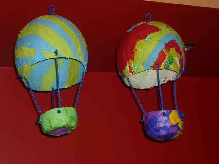 luchtballon uit papier maché