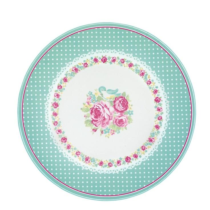 GreenGate Melamine Plate June White