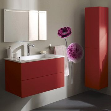 meuble de salle de bains cosmo rouge rouge n 3 655 sb. Black Bedroom Furniture Sets. Home Design Ideas