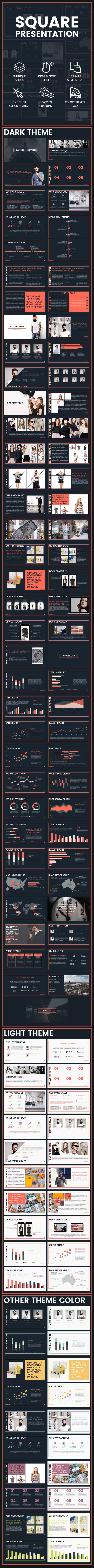 SQUARE - Clean Creative Powerpoint Template. Download here…