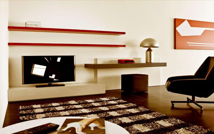 Minimalist led wall unit uk ipc389 lcd tv cabinet Tv panel furniture design