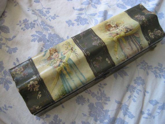 Antique Victorian Celluloid Glove Dresser Box by BellaBordello, $20.00