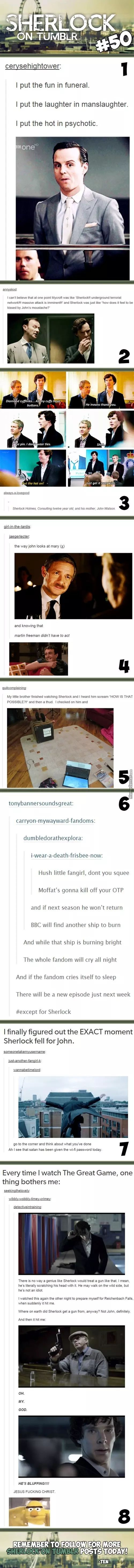 Sherlock On Tumblr #50 OMFG. The last fact. I am in my what.the.fuck-mode. I die. Seriously. '-'