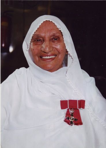 Activist, Bibi Balwant Kaur Ji seen here with her MBE award