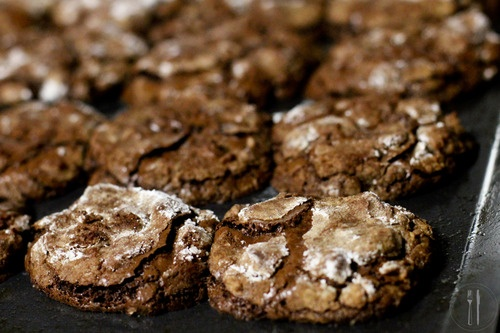 Chocolate chewy flourless cookies | Drool | Pinterest