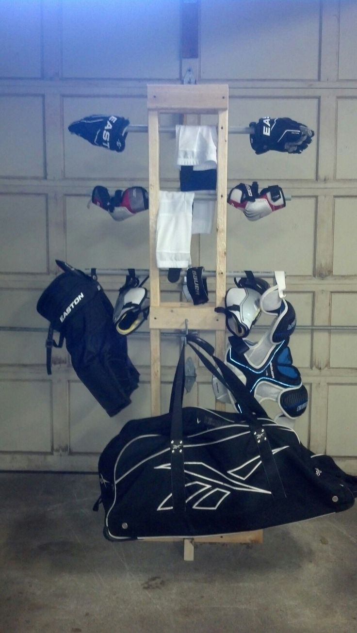 Hockey / sports equipment drying rack diy sports