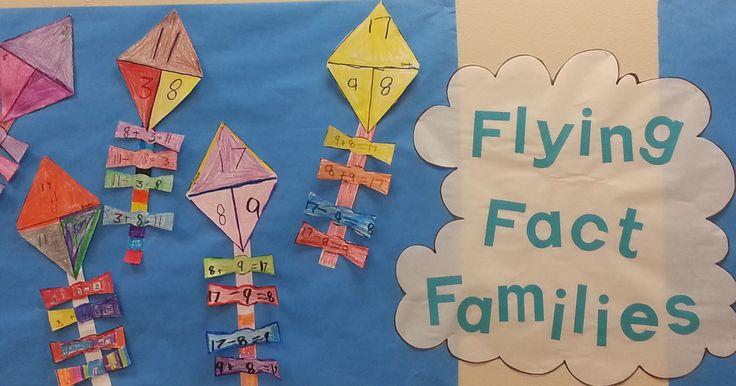 Flying Fact Families - 1st grade math